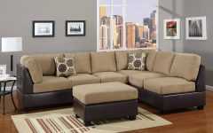 Leather and Suede Sectional Sofa