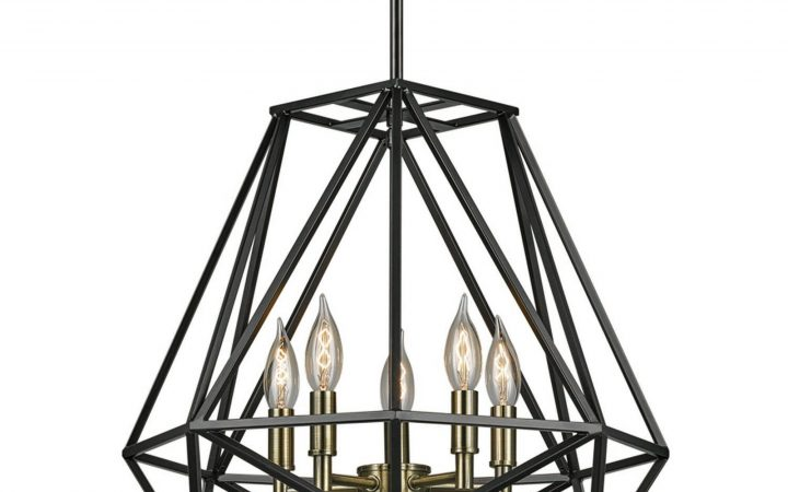 Tabit 5-light Geometric Chandeliers
