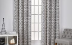 The Curated Nomad Duane Jacquard Grommet Top Curtain Panel Pairs