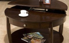 Round Coffee Table Storages