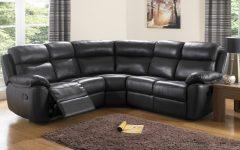Large Black Leather Corner Sofas