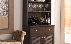 Modern and Contemporary Dark Brown Buffets with Glass Doors