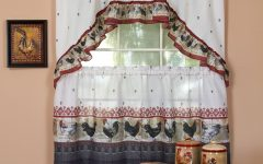 Traditional Two-piece Tailored Tier and Valance Window Curtains
