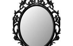 Black Victorian Style Mirrors