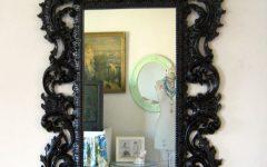Black Baroque Mirrors
