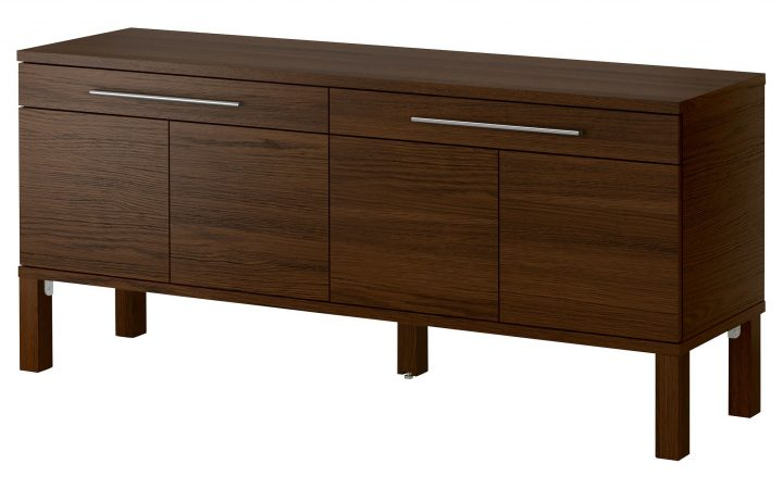 Contemporary Wooden Buffets with One Side Door Storage Cabinets and Two Drawers