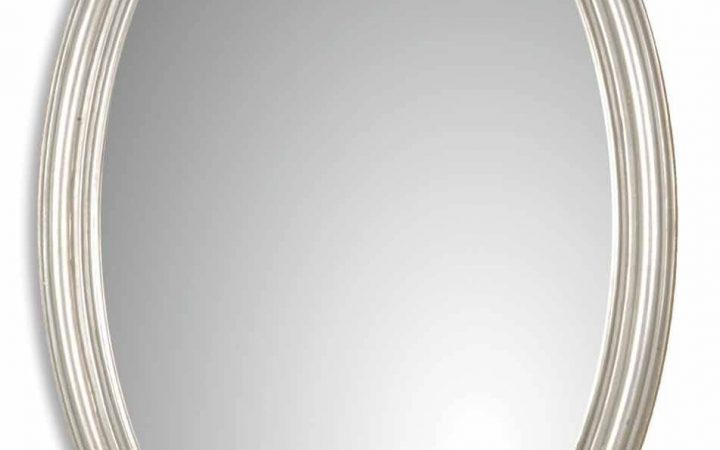 Silver Oval Mirrors