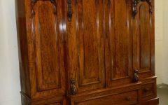Victorian Mahogany Breakfront Wardrobe