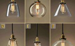 Glass Pendant Lights with Edison Bulbs