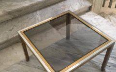 Retro Smoked Glass Coffee Tables