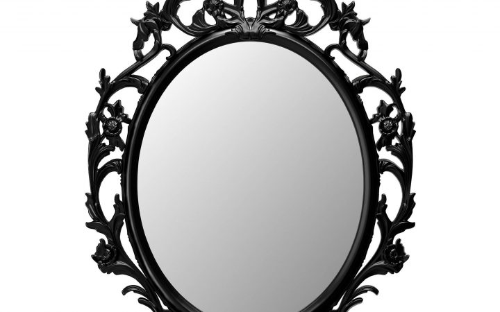 Black Oval Mirrors