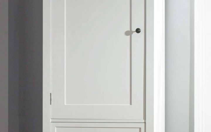 Single White Wardrobes with Drawers