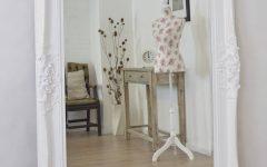 White Large Shabby Chic Mirrors