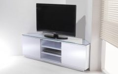 White High Gloss Corner Tv Unit