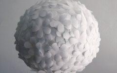 White Flower Pendant Lights