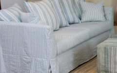 Blue and White Striped Sofas