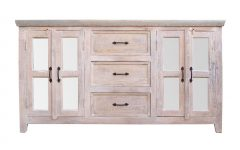 4-door 3-drawer White Wash Sideboards