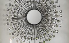 Estrela Modern Sunburst Metal Wall Mirrors