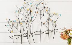 Contemporary Forest Metal Wall Decor