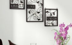 Live Love Laugh 3 Piece Black Wall Decor Sets