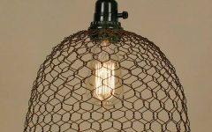 Chicken Wire Pendant Lights