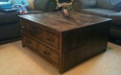Dark Wood Coffee Table Storages