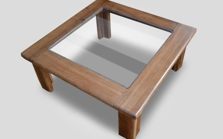 Wood with Glass Top Coffee Table