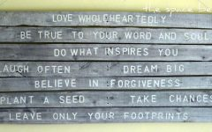 Wood Word Wall Art