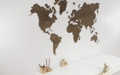 Wooden World Map Wall Art