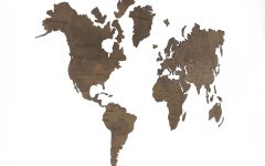 World Map Wood Wall Art