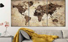 Old World Map Wall Art