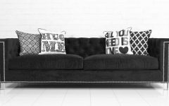 Black Velvet Sofas